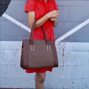 1 left! Boutique- Pink Haley Dariela Brown Tote